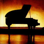 Photo of Steinway grand with back-lighting