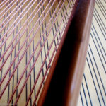Interesting photograph of grand piano strings