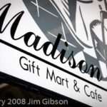 Photo of a gift shop in Madison, GA that sells Jim Gibson's solo piano CDs